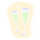 download Champagne clipart image with 45 hue color