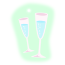 download Champagne clipart image with 135 hue color