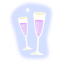 download Champagne clipart image with 225 hue color
