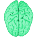 download Brain clipart image with 135 hue color