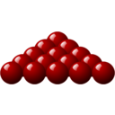 15 Red Snooker Balls