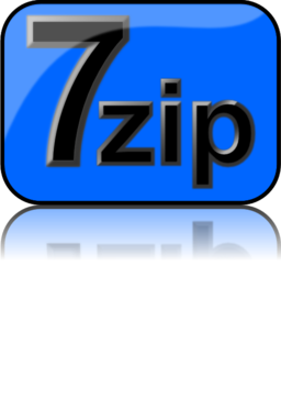 7zip Glossy Extrude Blue Clipart | i2Clipart - Royalty Free Public