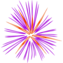 download Pink Fireworks clipart image with 315 hue color