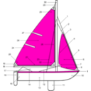 download Sailing Parts Of Boat Illustration clipart image with 135 hue color