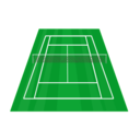 download Tennis Court clipart image with 45 hue color