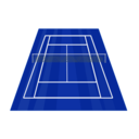 download Tennis Court clipart image with 135 hue color
