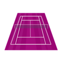 download Tennis Court clipart image with 225 hue color