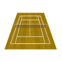 download Tennis Court clipart image with 315 hue color