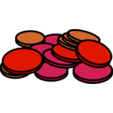 download Coins 3 clipart image with 315 hue color
