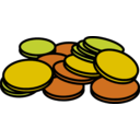download Coins 3 clipart image with 0 hue color