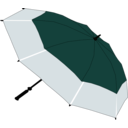 download Umbrella clipart image with 315 hue color