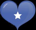 Somalia Heart Flag