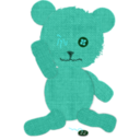 download Canvas Teddy Bear clipart image with 135 hue color