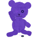 download Canvas Teddy Bear clipart image with 225 hue color