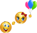 Flying Smiley Emoticon