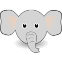 Funny Elephant Face Cartoon