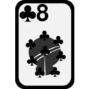 download Eight Of Clubs clipart image with 225 hue color