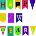 download New Year Flags By Rones clipart image with 45 hue color