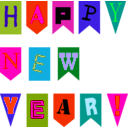 download New Year Flags By Rones clipart image with 315 hue color