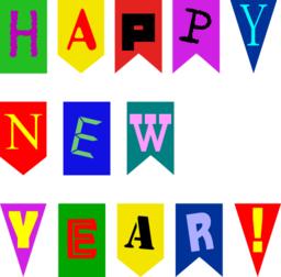 New Year Flags By Rones