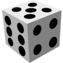 download Dice clipart image with 135 hue color