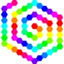 60 Hexagon Spiral