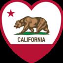 California Flag Heart