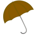 download Red Umbrella clipart image with 45 hue color