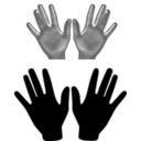 download Hands clipart image with 135 hue color