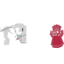 Chinese Paper Cut Style Face Mask Cleaned