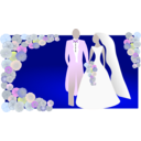 download Bride And Groom clipart image with 45 hue color