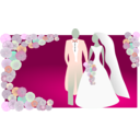 download Bride And Groom clipart image with 135 hue color