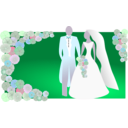 download Bride And Groom clipart image with 315 hue color