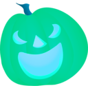 download Halloween Pumpkin Smile clipart image with 135 hue color