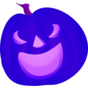 download Halloween Pumpkin Smile clipart image with 225 hue color