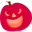 download Halloween Pumpkin Smile clipart image with 315 hue color