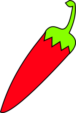 Red Chili With Green Tail