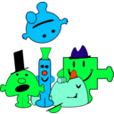 download Mr Men clipart image with 135 hue color
