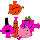 download Mr Men clipart image with 315 hue color