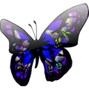 download Butterfly Effect clipart image with 225 hue color