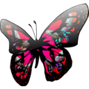 download Butterfly Effect clipart image with 315 hue color