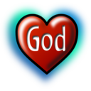 God Heart Text Converted To Image Path