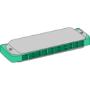 download Harmonica clipart image with 135 hue color