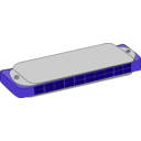 download Harmonica clipart image with 225 hue color