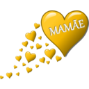 download Hearts For Mom clipart image with 45 hue color