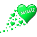 download Hearts For Mom clipart image with 135 hue color
