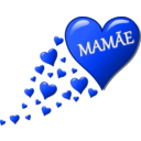 download Hearts For Mom clipart image with 225 hue color