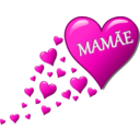 download Hearts For Mom clipart image with 315 hue color