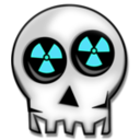 download Nuclear Skull clipart image with 135 hue color