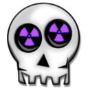 download Nuclear Skull clipart image with 225 hue color